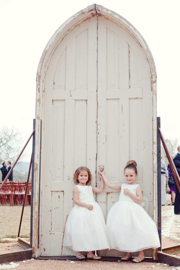rustic door for an outdoor chapel   The Nichols #wedding