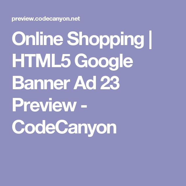 Online Shopping | HTML5 Google Banner Ad 23 Preview - CodeCanyon