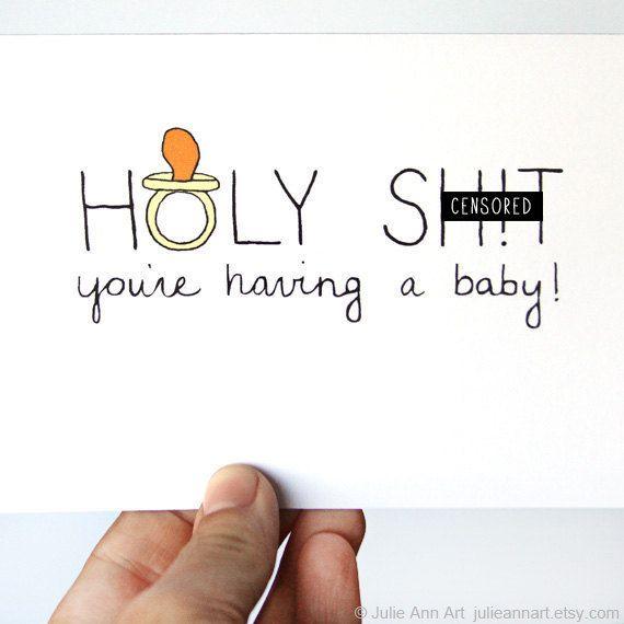 Pregnancy Card Congratulations New Baby Card Baby by JulieAnnArt