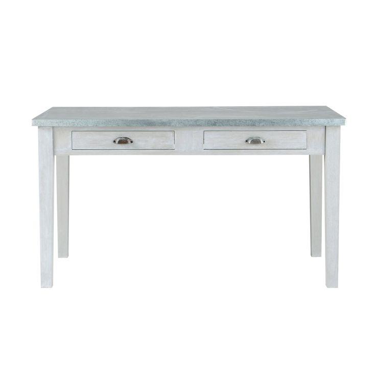 Tavolo grigio per sala da pranzo in acacia L 140 cm Zinc