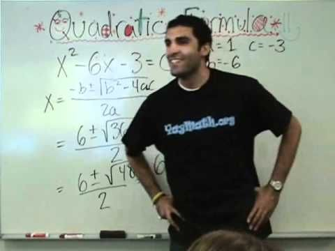 Algebra - Quadratic Formula - Chesapeake College Adult Education Program offers free and nearly free classes on the Eastern Shore of Maryland to help you earn your GED and your Maryland H.S. Diploma.  We provide free advising, college and career transition services.  Let us help you turn a dream into your reality. Classes start monthly. Contact Danielle Thomas 410-829-6043.