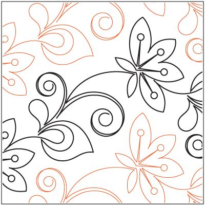 """A single row is 12"""" wide– printed with one row – 144"""" long The flower petals measure approximately 4""""W x 5.75H"""". © 2014 Patricia E. Ritter & Leisha Farnsworth * This design is available in both paper and digital. Please select your preference below. NOTE:   All digital designs include the following conversions:  CQP, DXF, HQF, IQP, MQR, PAT, QLI, SSD, TXT, WMF and 4QB or PLT. Most designs also include a DWF, GIF and PDF. This pattern was converted by Digitech."""