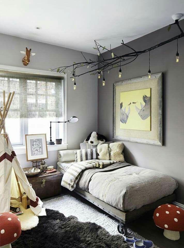 Rustic, slightly woodsy boy's room