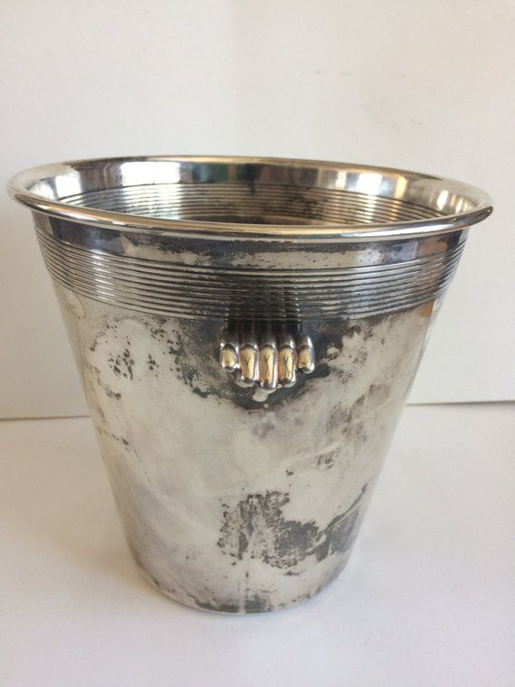 Classic Vintage Art Deco Silverplate Champagne Ice Bucket Wine