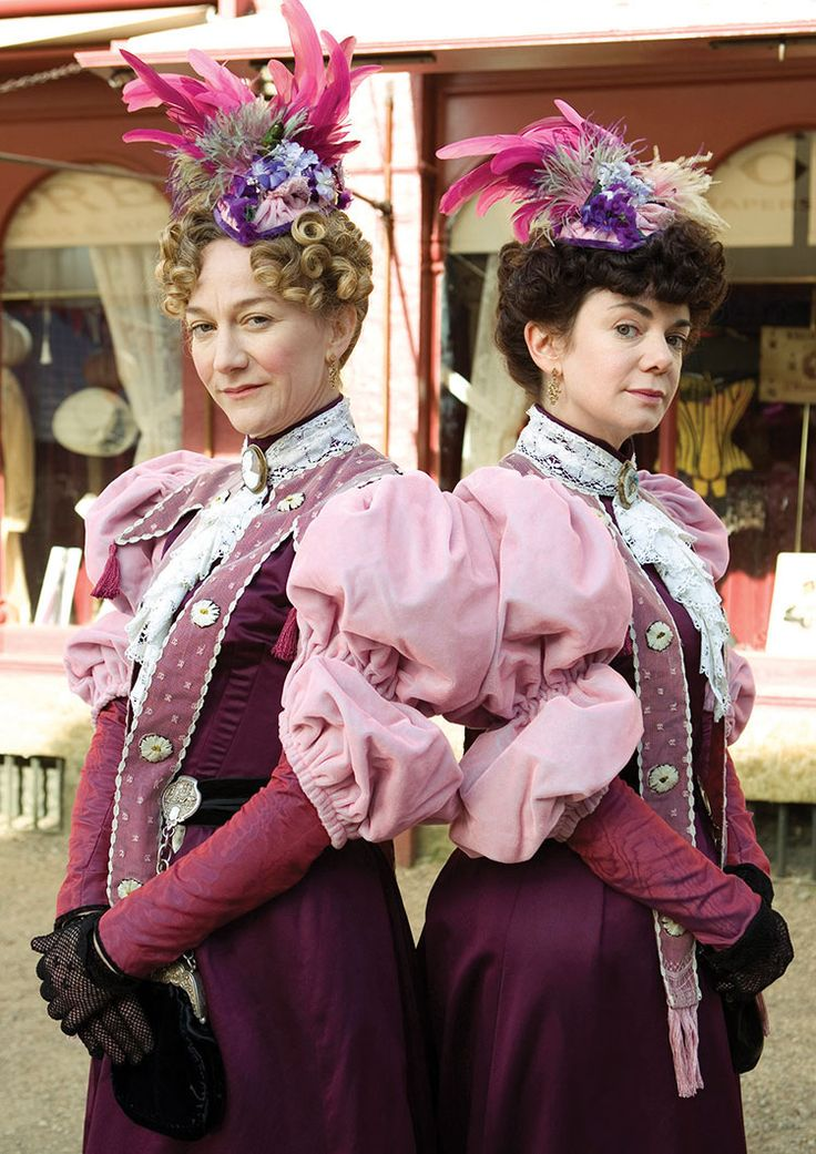 Larkrise to Candleford, Ruthie and her sister, the spinster seamstresses.