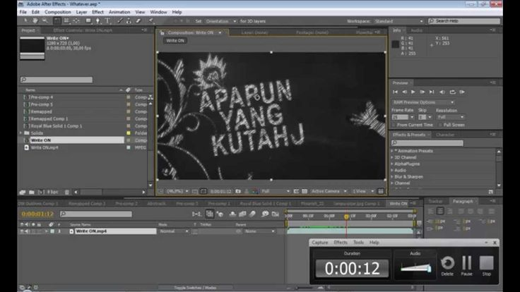 After Effects Tutorial Awesome Text Chalk Look  (Tulisan Kapur)