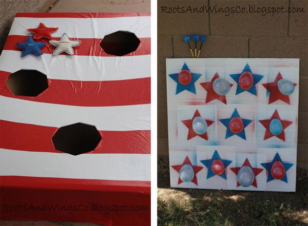 dyi carnival games | of great 4th of July DIY carnival games. Make a bean bag toss game ...
