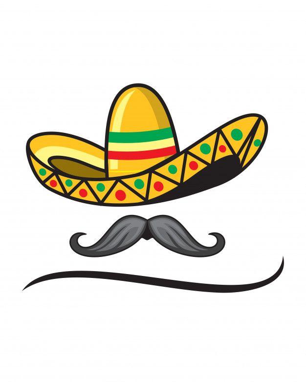 Sombrero Y Bigote Mexicano Vector Premium Premium Vector Freepik Vector Hombre Sombrero Mexicano Bigote Bigote Mexicano Sombrero Mexicano Mexicano
