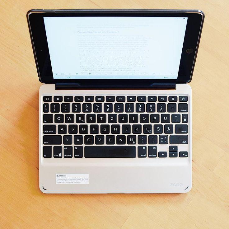 Neuer Review ist online - slim book von @zagg - ultraschlanke Bluetooth-Tastatur für das iPad Air 2 - schreiben klappt super  #gadget #review
