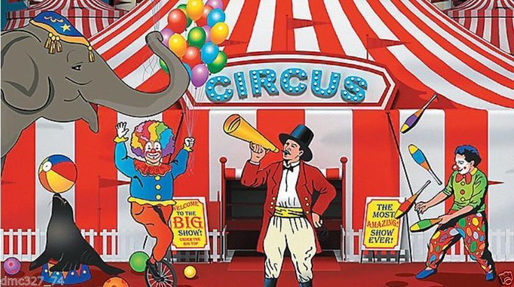 CARNIVAL Circus Big Top Tent Party Decoration Mural BACKDROP Banner Photo Prop | eBay