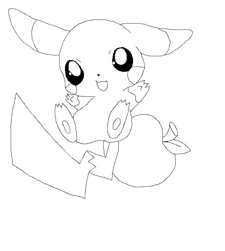 cute pokemon pikachu coloring pages - photo#24