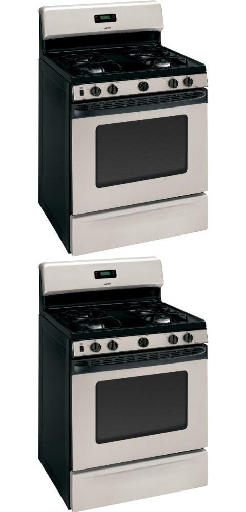 Hotpoint RGB540SEPSA 30 Silver Gas Sealed Burner Range ALWAYS FREE SHIPPING WITHIN THE USA.  #Hotpoint #Major_Appliances