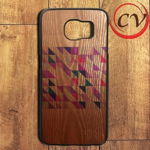 Geometric Pattern Wood Samsung Galaxy S6 Edge Plus Case