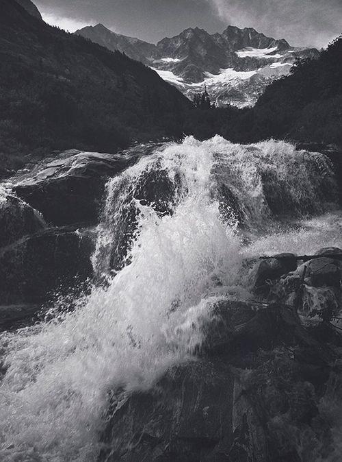 yama-bato: Ansel Adams: Waterfall, Northern Cascades, Washington, 1960 (Courtesy Center for Creative Photography, ©2012 The Ansel Adams Publishing Rights Trust) via