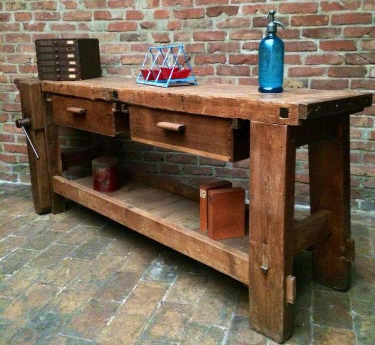 industrial workbench wood  Google Search  Workbench