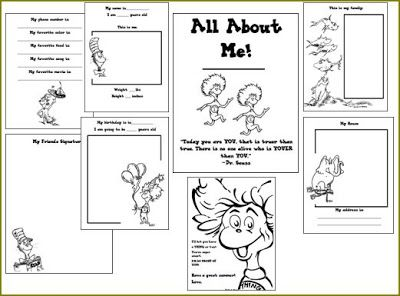 The Art of Teaching: A Kindergarten Blog: Dr. Seuss All About Me Book