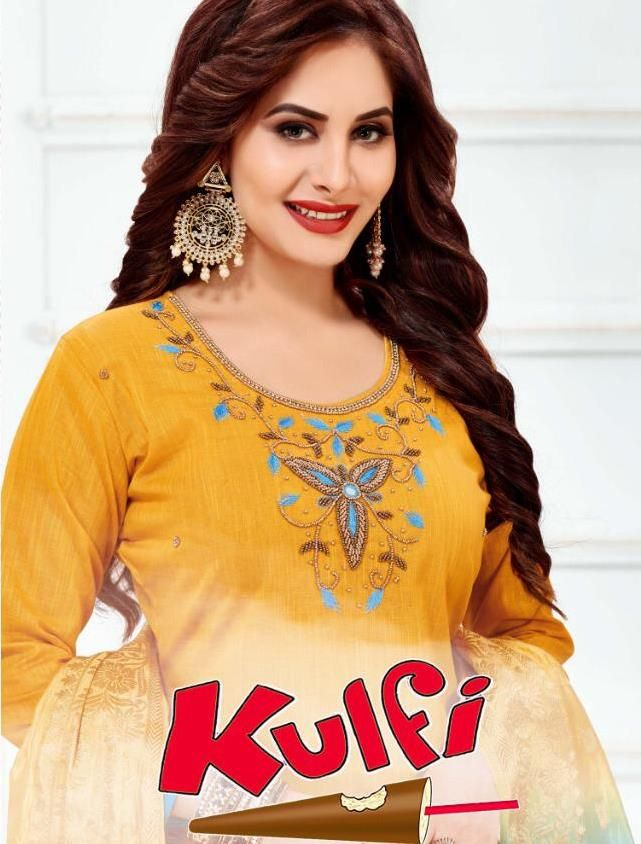 8e6259d8ff Navkar Fab Kulfi Designer Slub Cotton with Handwork Dress Material  Collection at Wholesale Rate