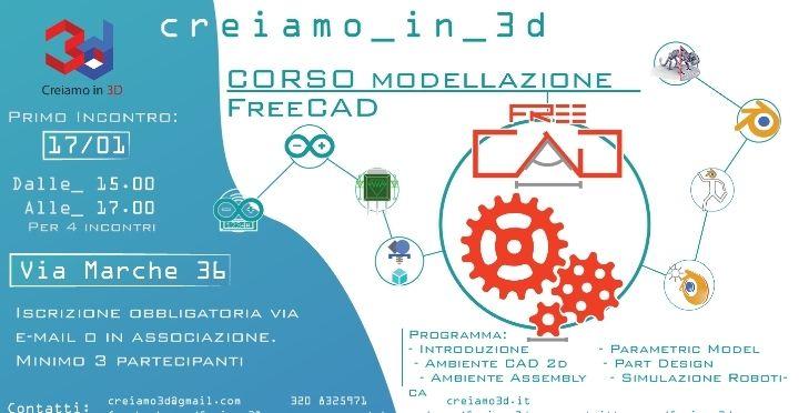 corso di Freecad @ Creiamo in 3D - 17-Gennaio https://www.evensi.it/corso-di-freecad-creiamo-in-3d/196300143