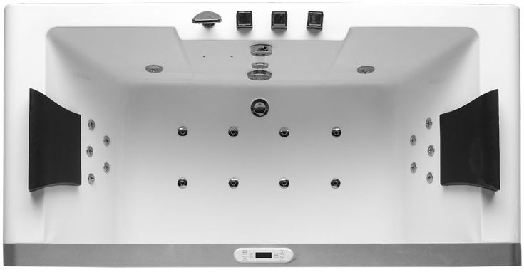 Eago 6' Clear Rectangular Whirlpool Bath Tub for Two with Fixtures