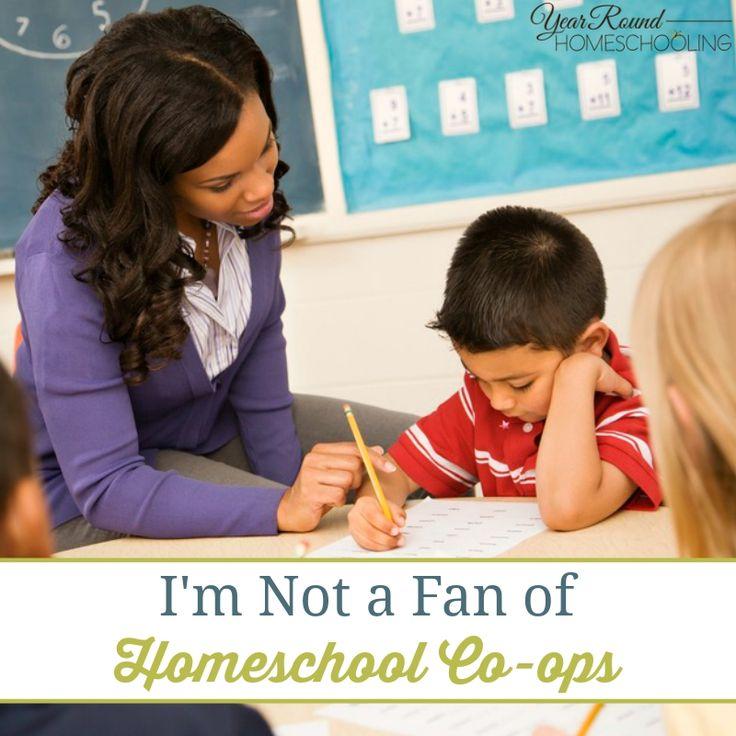I'm Not a Fan of Homeschool Co-ops - http://www.yearroundhomeschooling.com/im-not-a-fan-of-homeschool-co-ops/
