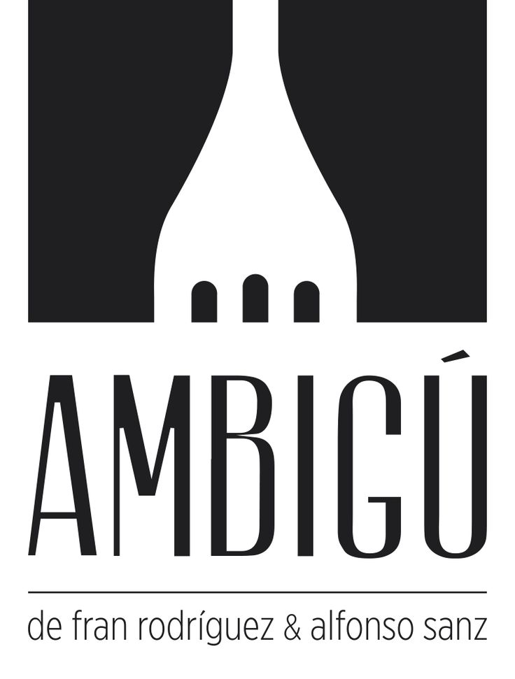 logo for AMBIGÚ restaurant. Next theater as can be seen in its design.