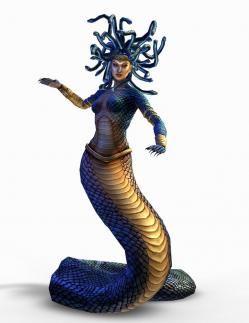 En la mitología griega, Medusa (en griego antiguo Μέδουσα Médousa, 'guardiana', 'protectora')[1] era un monstruo ctónico femenino, que volvía de piedra a aquellos que la miraban. Fue decapitada por Perseo, quien después usó su cabeza como arma