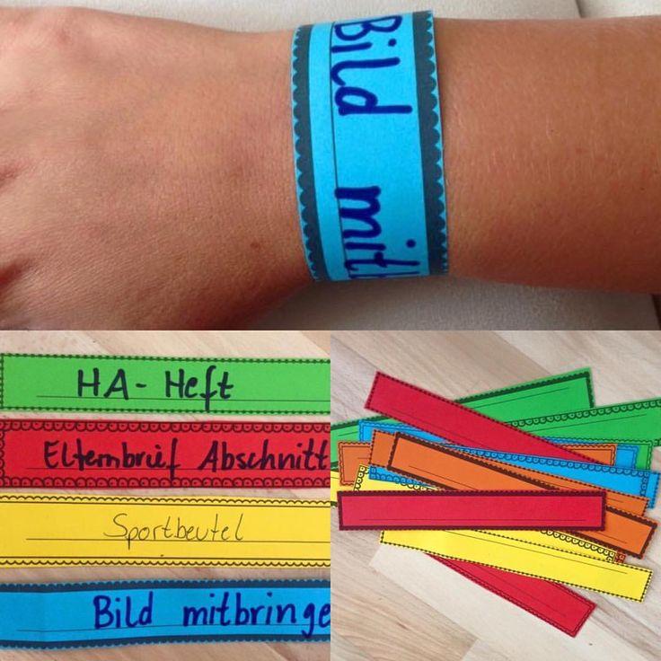 """Gefällt 41 Mal, 20 Kommentare - Material, Montessori & Tipps (@grundschul_teacher) auf Instagram: """"Erinnerungsband 😀 besser als direkt auf den Arm zu schreiben 😜 #unterricht #referendariat #lehrer…"""""""