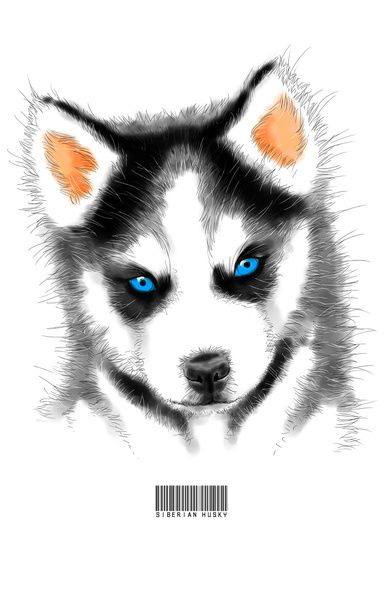 Siberian Husky Art Print by Angelas   Society6