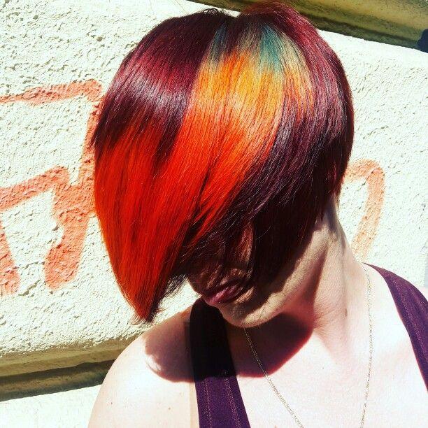 #haircolor #rainbowhair #hajszín By Farkas Andrea