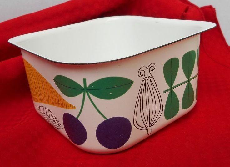 "Vintage FINEL KAJ FRANCK ARABIA FINLAND 6"" Square Vegetable Fruit Rare"