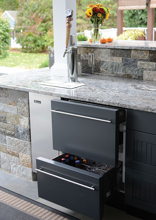 Outdoor Beverage Frig by Brown Jordan Outdoor. Available at ...