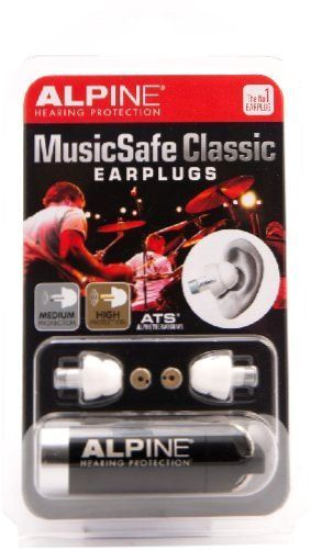 Alpine Hearing Protection MusicSafe Classic Earplugs for Musicians NEW #AlpineHearingProtection
