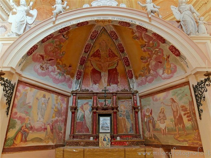 #Sagliano Micca (#Biella #Italy #Piemonte ) - Apse of the Oratory of the Most Holy Trinity