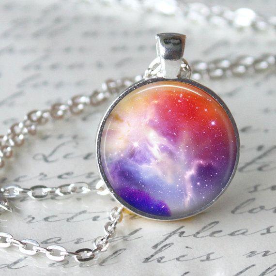CARINA NEBULA Necklace Pendant Space Hipster by LiteraryArtPrints