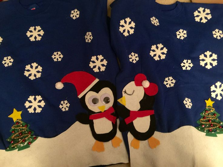 Couple ugly sweater theme made by me!