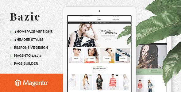 Bazic Store Responsive Pages Builder Magento Theme
