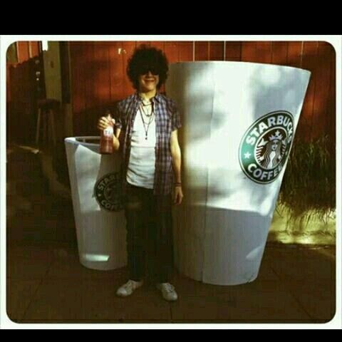 Lp and starbucks coffee.