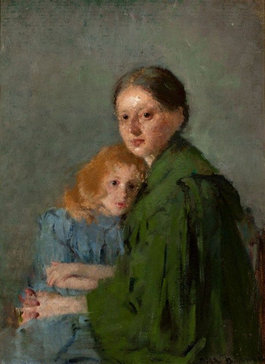 Olga Boznańska, Matka z dzieckiem/ Mother and child (Portrait of Mother with Little Girl) / A woman in a Green Dress,1893, property of the National Museum in Kraków, photo: Safjan Piotr / The National Museum in Warsaw - photo 11