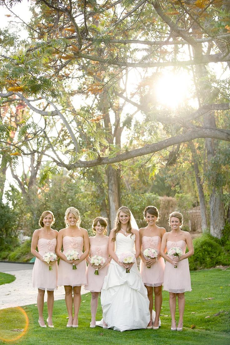 Short blush dresses