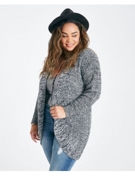 plus-size-marled-cocoon-cardigan by wet-seal  #fashion #style #stylish #fashiontrend #awesome #shoptagr