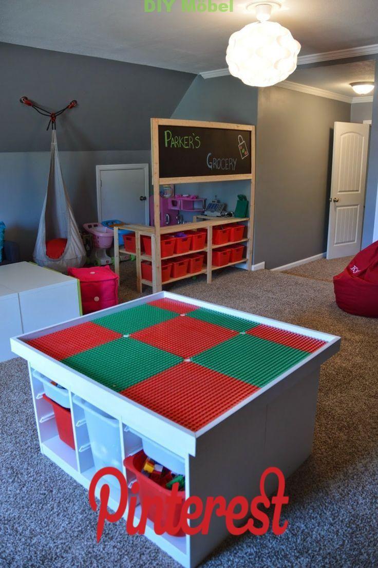 Lego Tisch Furs Kinderzimmer Selber Bauen Diy Ideen Fur Tollen Spieltisch Diy Mobel Lego Tisch Spieltisch Kinderzimmer Kinder Zimmer