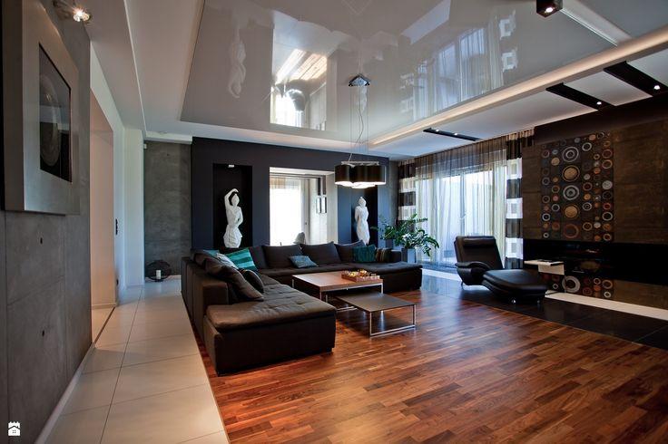 salon w domu jednorodzinnym - Salon - Styl Nowoczesny - A2 STUDIO pracownia architektury