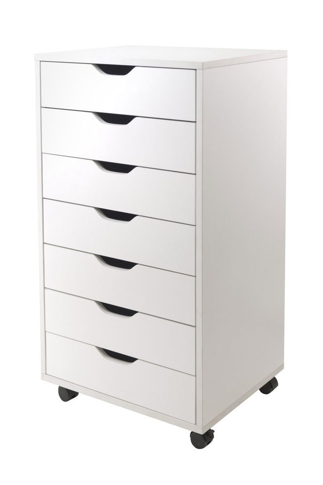7-Drawer Dresser Cabinet Closet Storage Organizer Office Furniture White Winsome #Winsome