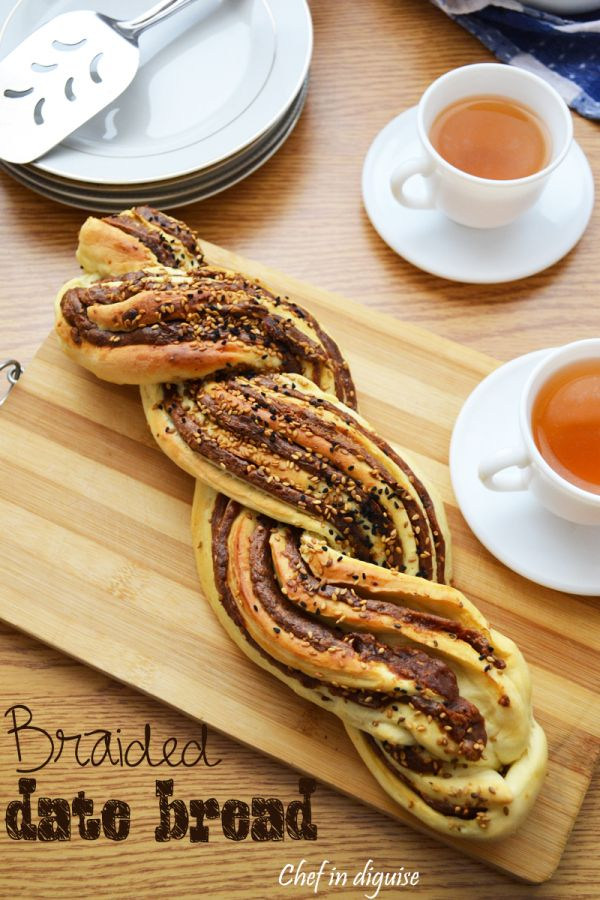 Braided date bread with step by step instructions and different filling suggestions