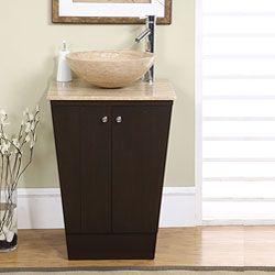 silkroad exclusive auburn bathroom vessel vanity sink brown espresso size single vanities