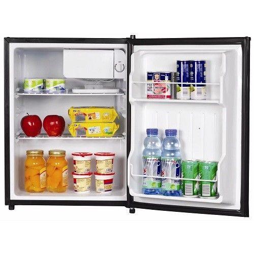 Mini Compact Refrigerator Fridge Freezer Reversible Door 2.4 Cubic Foot Ice Tray #MiniCompactRefrigerator
