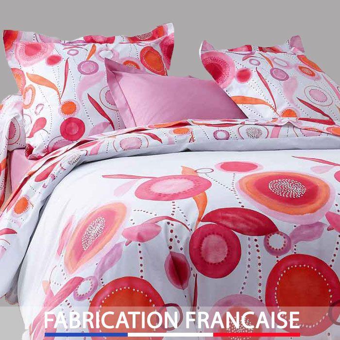 Housse de couette 240x260 FLEUR TONUS + 2 taies d'oreillers http://www.richandhome.com/housse-de-couette/527-240x260-fleur-tonus-3221511092286.html