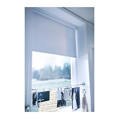 Fresh Ikea TUPPLUR Window Roller Shades Pull up Blind cordless Blackout White fabric