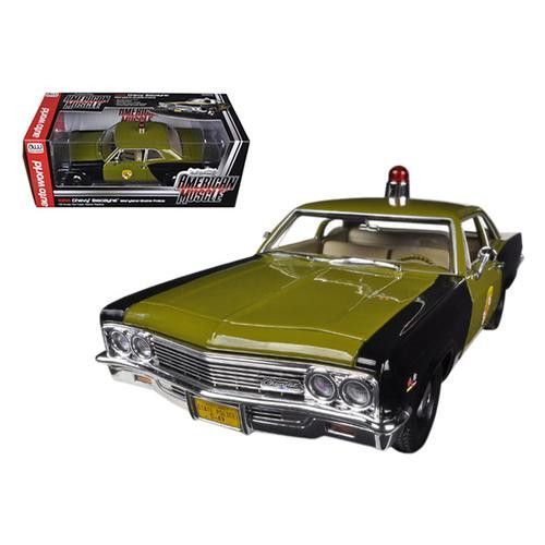 1966 Chevrolet Biscayne Maryland State Police Car Limited to 1500pc Worldwide 1/18 Diecast Model Car by Autoworld
