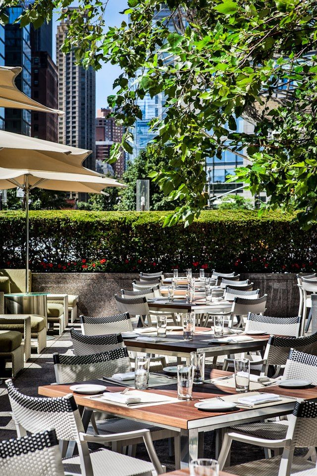 The terrace at Nougatine at Trump New York - Central Park.